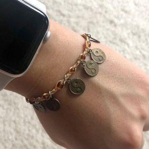 Vintage Chinese Yin Yang Energy Charm Bracelet